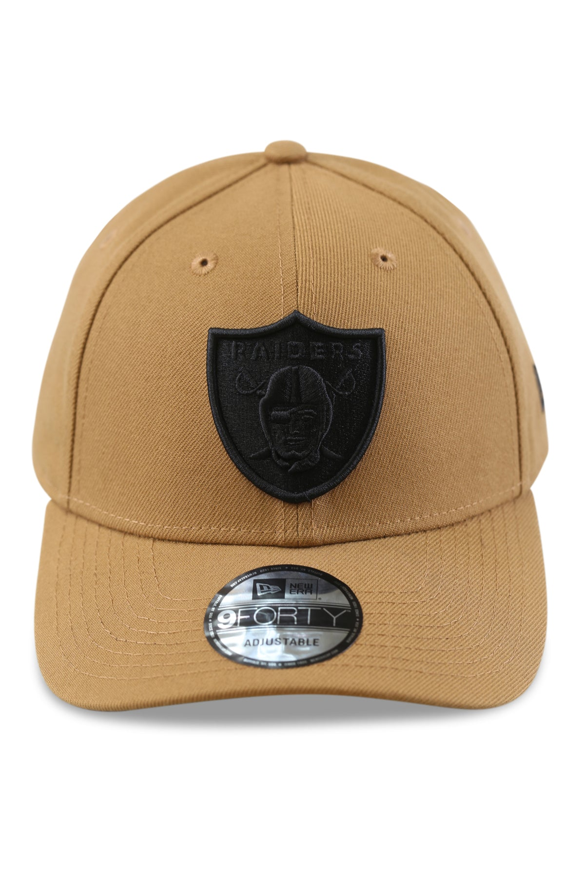 New Era 940 LV Raiders Wheat/Black Snapback Front
