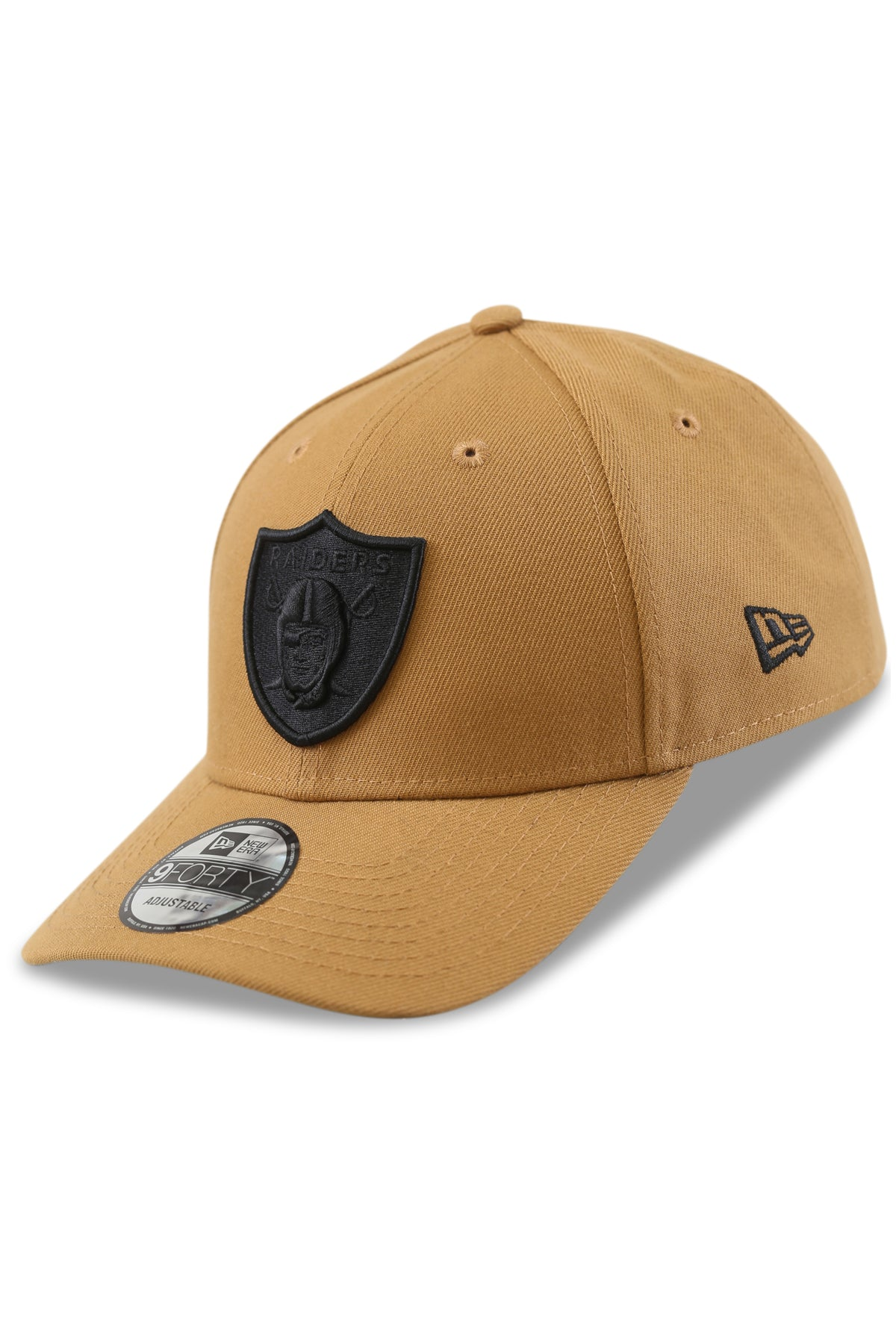New Era 940 LV Raiders Wheat/Black Snapback Angle