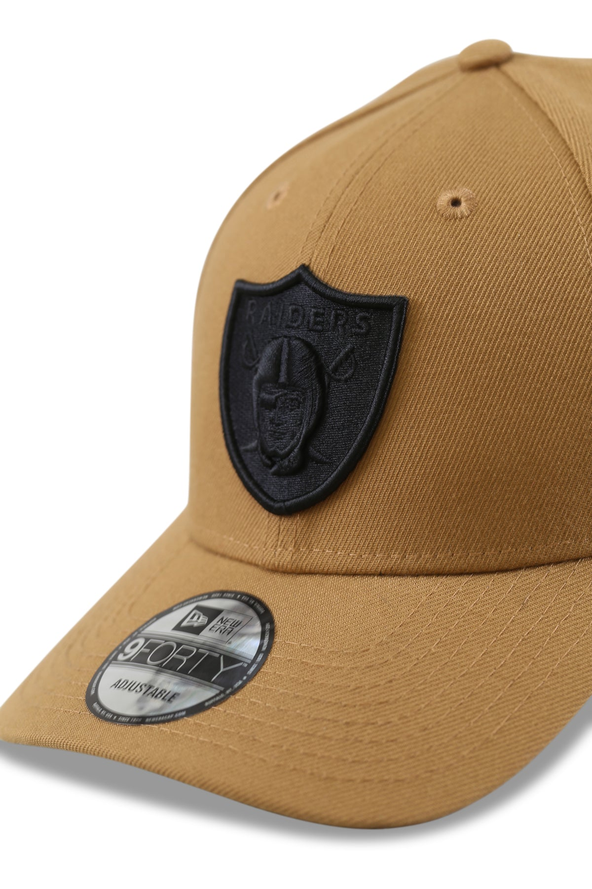 New Era 940 LV Raiders Wheat/Black Snapback Detail