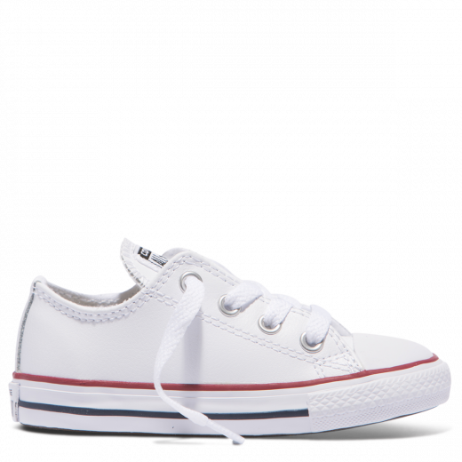 Converse CT Leather Low White Garnet Navy Toddler Side