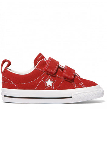 Converse One Star Suede Red White Black