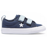 Converse Infant One Star 2V Navy Side