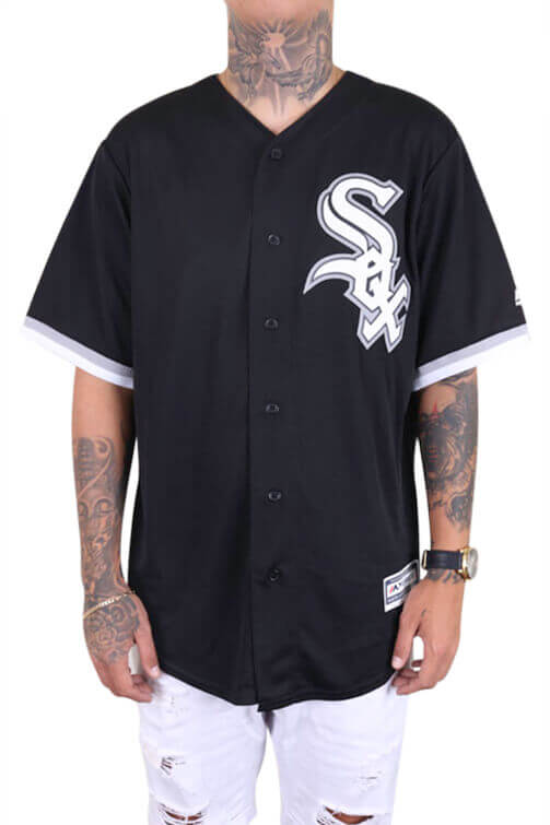 Majestic Sox Alt Cool Base Jersey Black Front