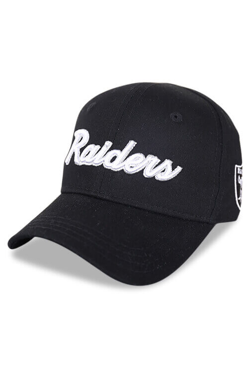 Outerstuff Infant Raiders Team Script Black Snapback Angle