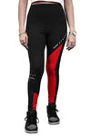Ilabb Womens Advanced Leggings Black/Red Front