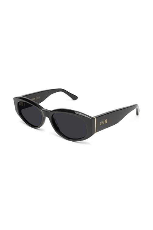 9Five Sunglasses - Capital Black and Gold Angle