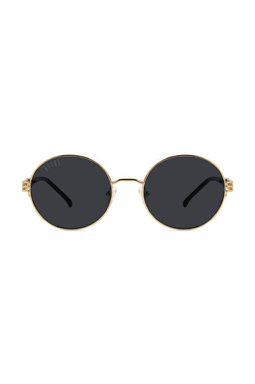 9Five Sunglasses - Iris Black and 24k Gold Front