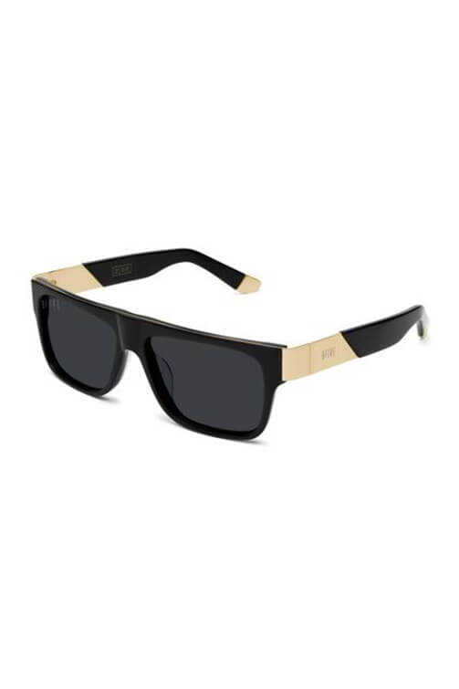 9Five Sunglasses - 22 Glasses Black Gold Angle