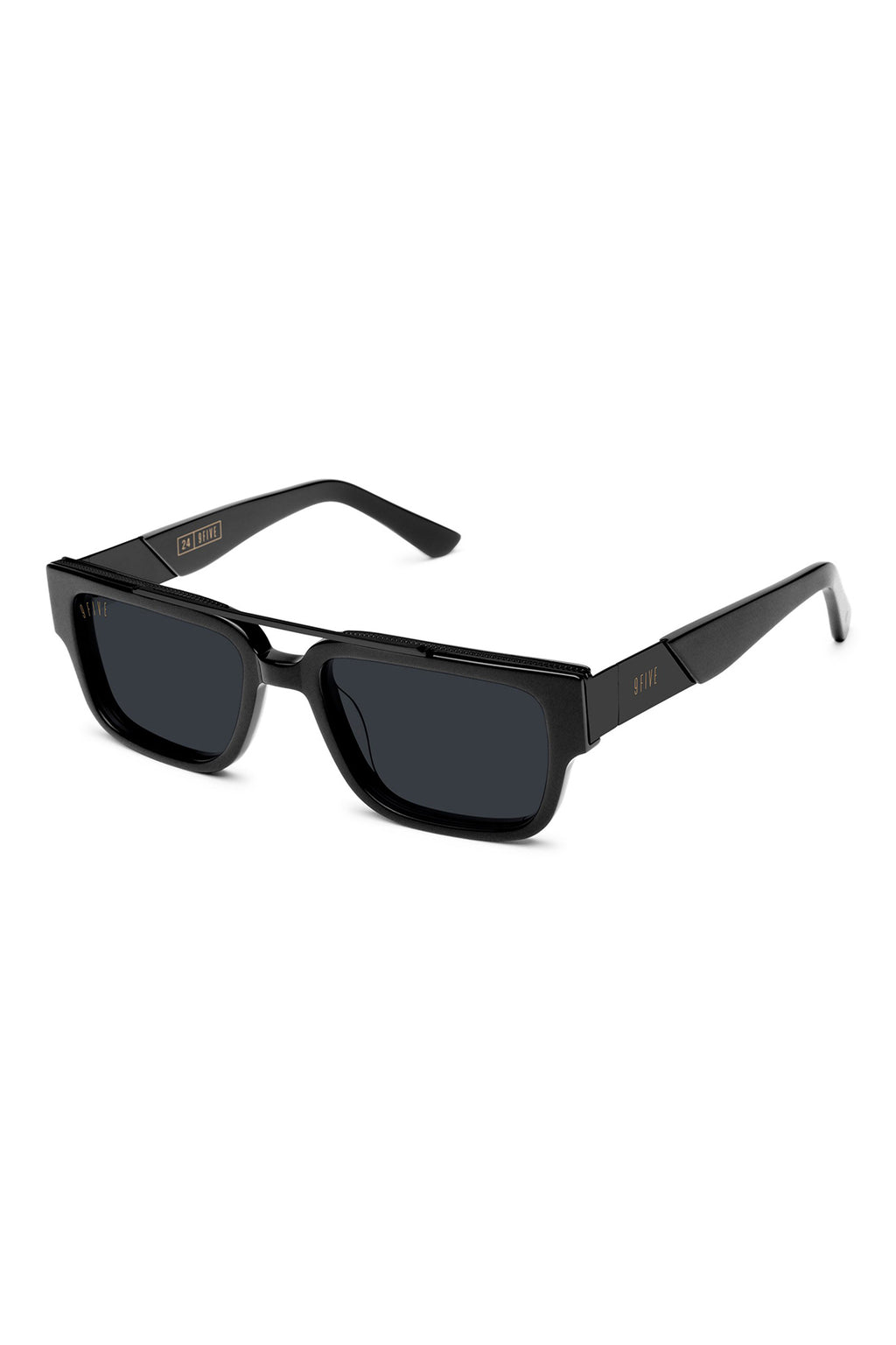9Five Sunglasses - 24 Matte Black Angle