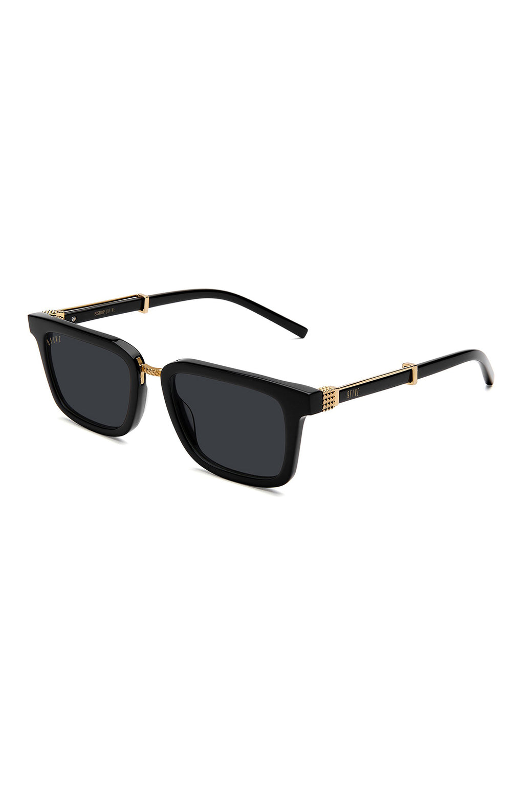 9Five Sunglasses - Bishop Black Gold Angle