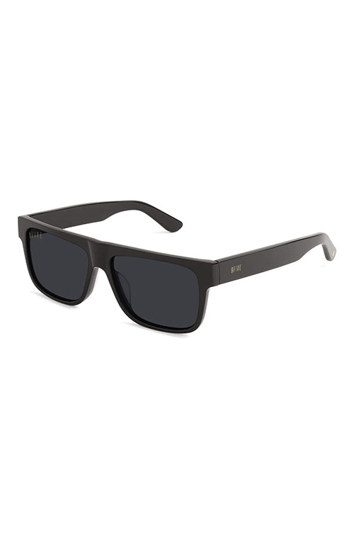 9Five Sunglasses - 21 Black Polarised Angle