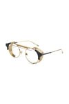 9Five Sunglasses - 88 Black and Gold Clear Lens