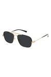 9Five Sunglasses - Avian Black and Gold Angle