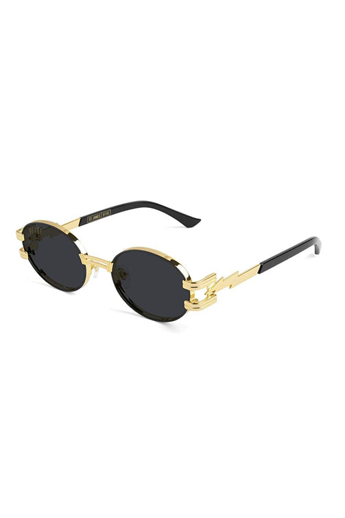 9Five Sunglasses - St. James Bolt Black and Gold Angle