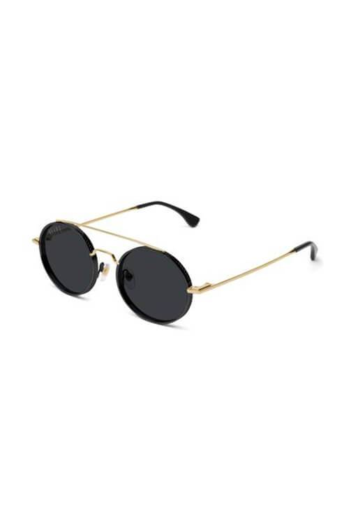 9Five Sunglasses - 50 50 Black and Gold Angle