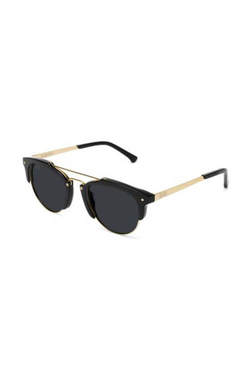 9Five Sunglasses - Del Ray Black and Gold Angle