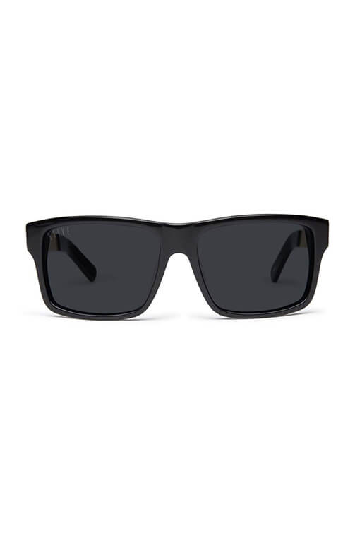 9Five Sunglasses - Caps LX Black Gold Polarised Front