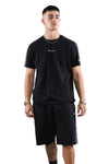 Champion EU Taping Tee Black Front 1