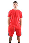 Champion EU Taping Tee Red Front 1