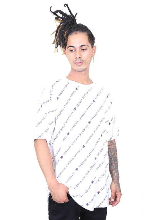 Champion ID Collection All Over Print Tee White Front