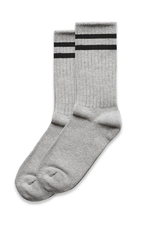 As Colour 2PK Tube Sock Grey Black