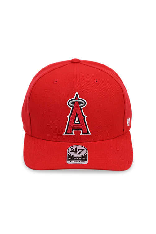 47 Brand LA Angels Red Cold Zone MVP DP Snapback Front