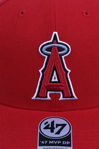 47 Brand LA Angels Red Cold Zone MVP DP Snapback Detail