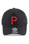 47 Brand Pirates Black Red Replica MVP DT Snapback Front