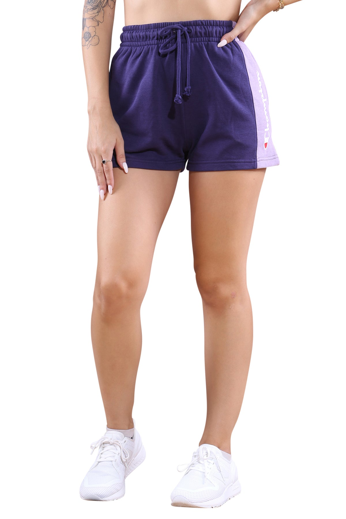 Champion French Terry CBLK Short Purple Front