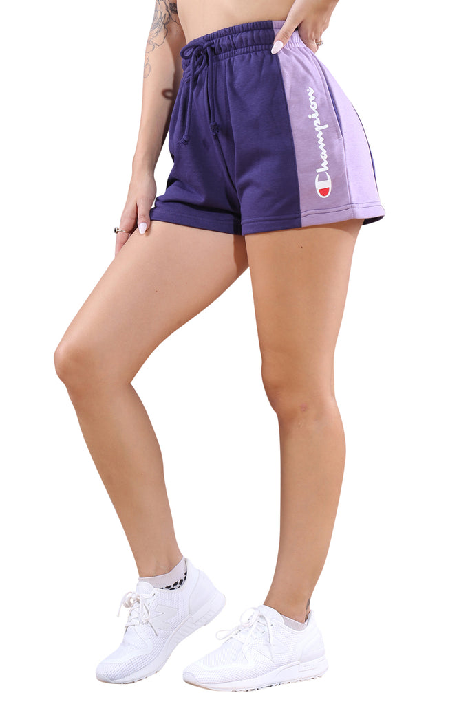 Champion French Terry CBLK Short Purple Angle 1