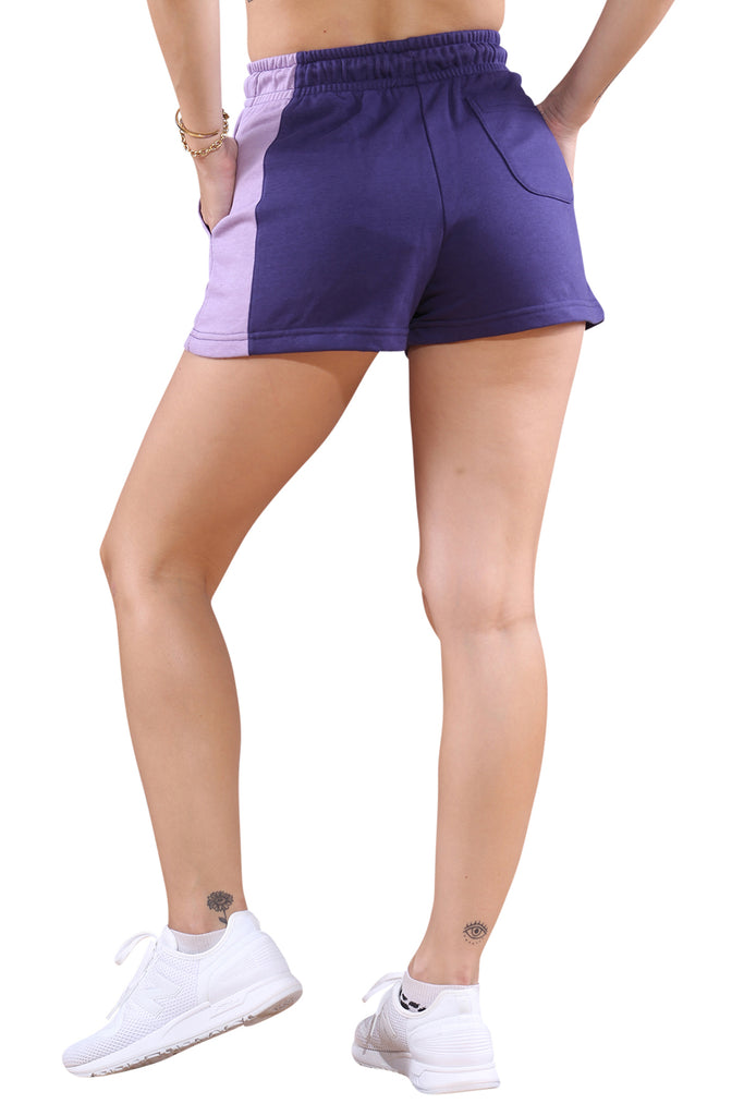 Champion French Terry CBLK Short Purple Back