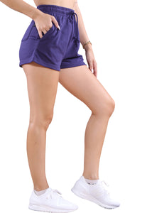 Champion French Terry CBLK Short Purple Angle 2