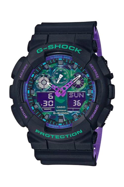 Casio G-Shock Duo Black 90s GA100BL-1A Front