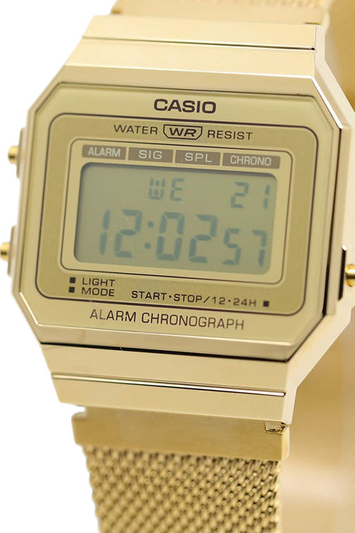 Casio Youth Digital Gents Vintage S/Watch Gold A700WMG-9A Detail