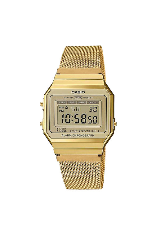 Casio Youth Digital Gents Vintage S/Watch Gold A700WMG-9A Front