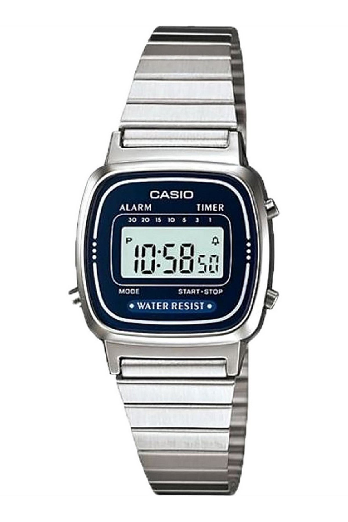 Casio Dress Duo Alarm Grey S/Steel AQ230GG-2A Front