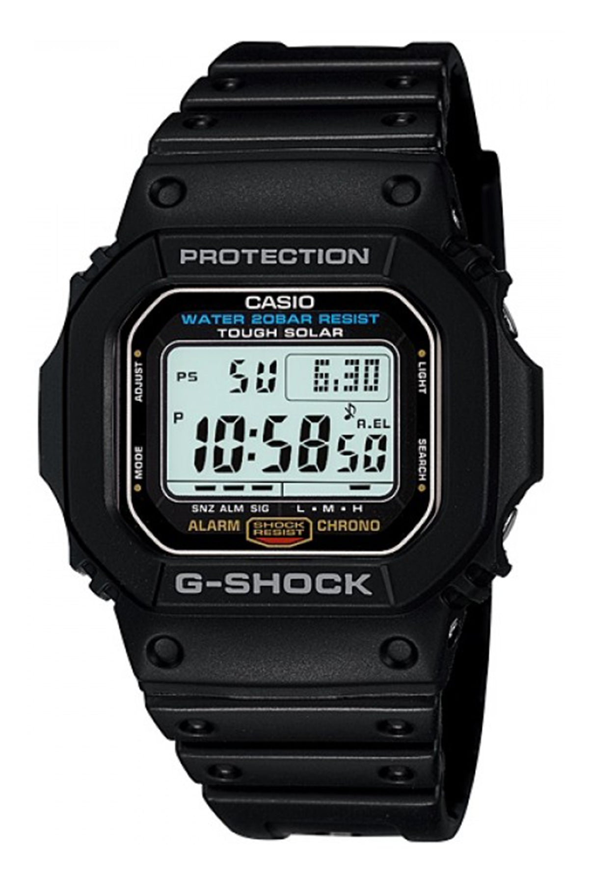 Casio G-Shock Tough Solar Black G5600E-1 Front