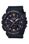 Casio NLA G-Shock Duo Black/Rose Gold GMAS130PA-1A Front