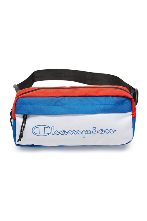 Champion Colourblock Waistbag Blue/Red Front