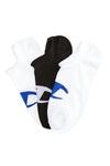 Champion C Logo No Show 3PK White/Black