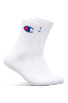 Champion Womens C Logo Crew 3PK White