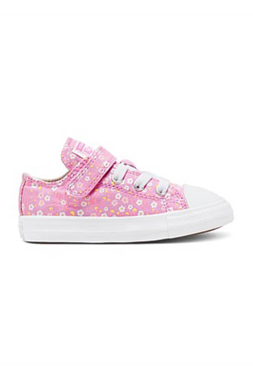 Converse Infant CT Floral 1V Slip Pink Side