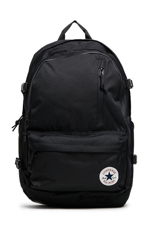 Converse Straight Edge Backpack Black Front
