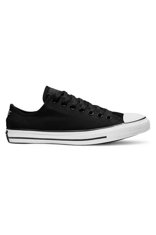 Converse Twill Low Top Black Side