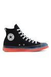 Converse CT CX Hi Top Black/Clear/Wild Mango Side