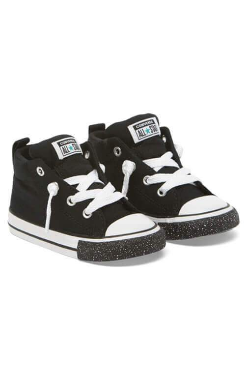 Converse Infant Street Speckle Toe Mid Black Angle