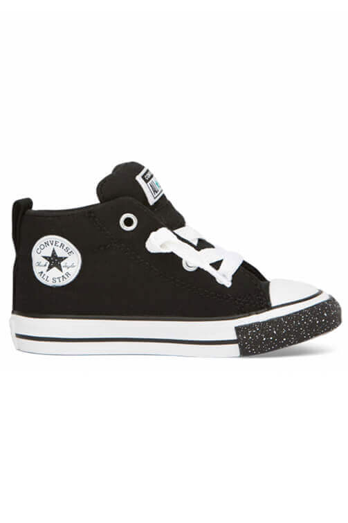 Converse Infant Street Speckle Toe Mid Black Side