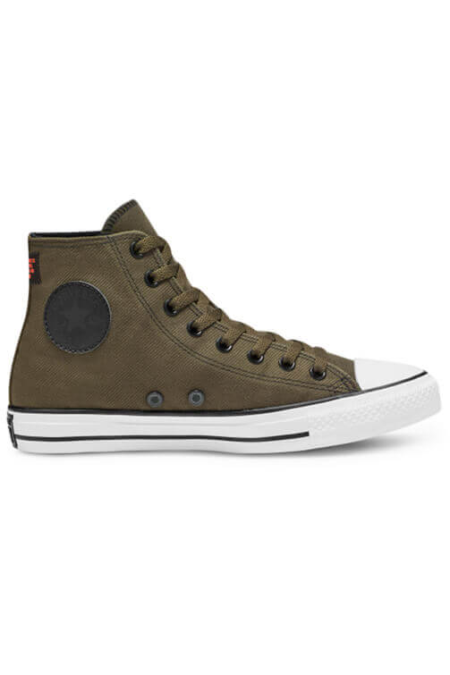 Converse Twill High Top Surplus Olive Side