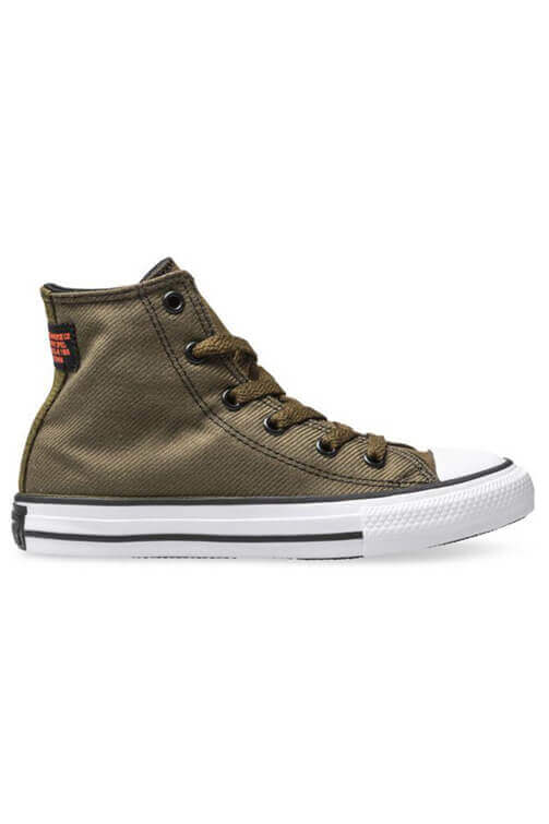 Converse Youth Twill High Top Surplus Olive Side