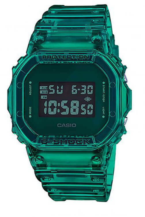 Casio G-Shock Digital 90s See-Through Green DW5600SB-3D